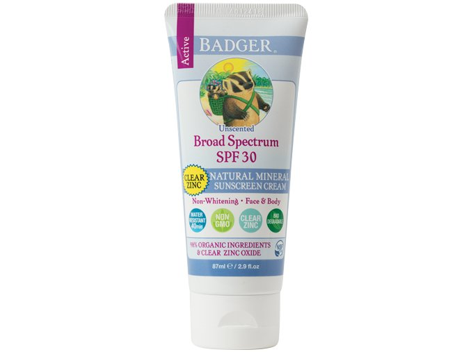 vyr 258 Clear Zinc Sunscreen SPF 30 Badger Unscented