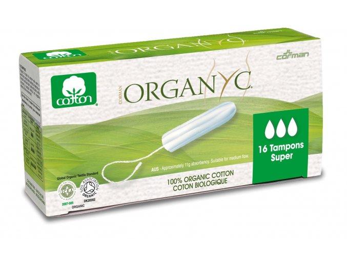 organyc menstrua n tampony z biobavlny super 16ks