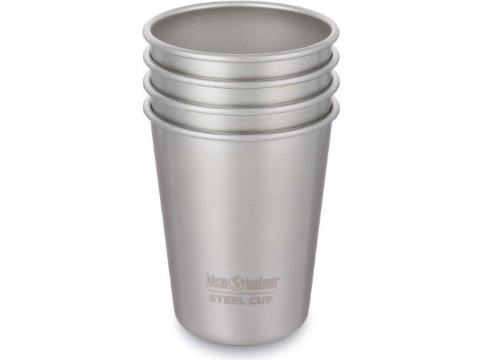 Sada nerezových pohárků Klean Kanteen Steel Cup - 4 Pack - 296 ml