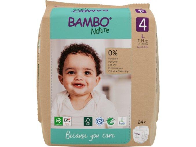detske pleny abena bambo nature 4 maxi 7 18kg 24ks
