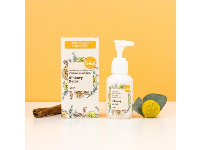 sprchovací olej hĺbkový detox