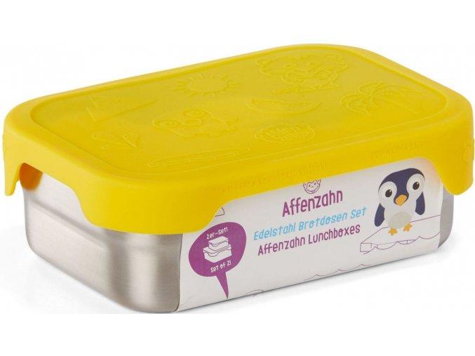 Svačinový box Affenzahn Stainless Steel Lunchbox Set Tiger