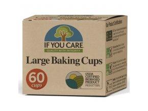 IF YOU CARE Pečící košíčky - velké 60 ks (60 ks) průměr 6,5cm