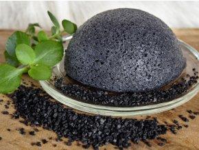 Konjac houbička s aktívnym uhlím